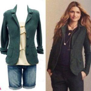 Cabi Dark Green Snap Front Cardigan Size XL